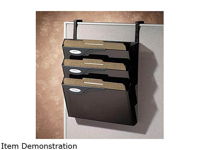 Rubbermaid L16783 Classic 4 Pocket Hanger Set for Partitions, Legal/Printout, Smoke