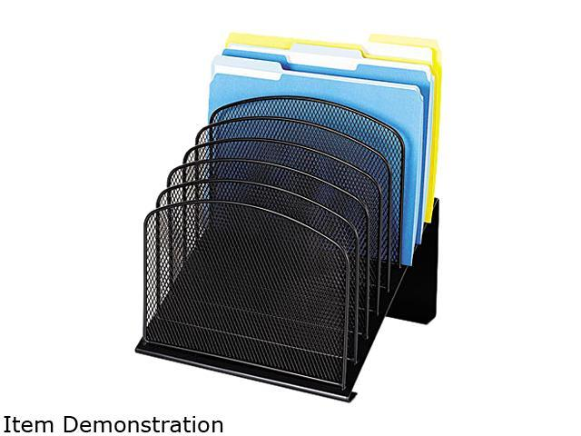 Safco 3258BL Mesh Desk Organizer, Eight Sections, Steel, 11 1/4 x 10 7/8 x 13 3/4, Black