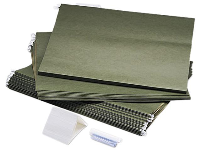 Safco 5038 Hanging File Folders, Compressed Paper Fiber, 18 x 14, Green, 25/Box