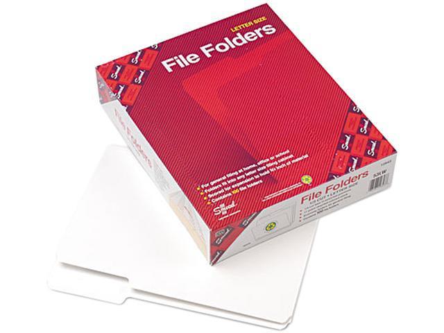 Smead 12843 File Folders, 1/3 Cut Top Tab, Letter, White, 100/Box