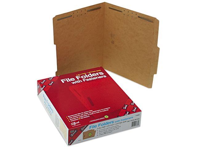 Smead 14880 11 Point Kraft Folders, Two Fasteners, 2/5 Cut Top Tab, Letter, Brown, 50/Box