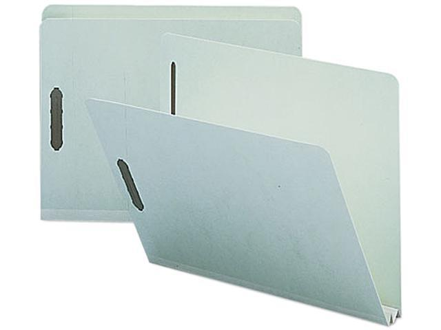 Smead 14910 Two Inch Expansion Fastener Folder, Straight Tab, Letter, Gray Green, 25/Box