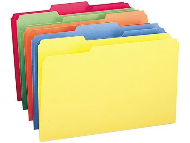 Smead 16943 File Folders, 1/3 Cut Top Tab, Legal, Assorted Colors, 100/Box