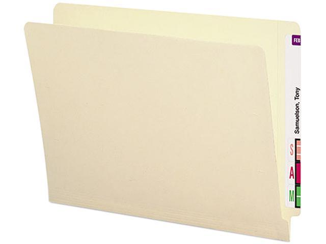 Smead 24113 Antimicrobial File Folders, Straight End Tab, 11 Point, Letter, Manila, 100/Box