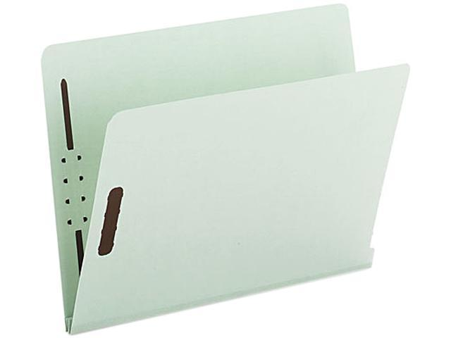 Smead 34715 Two Inch Expansion Folder, Two Fasteners, End Tab, Letter, Gray Green, 25/Box
