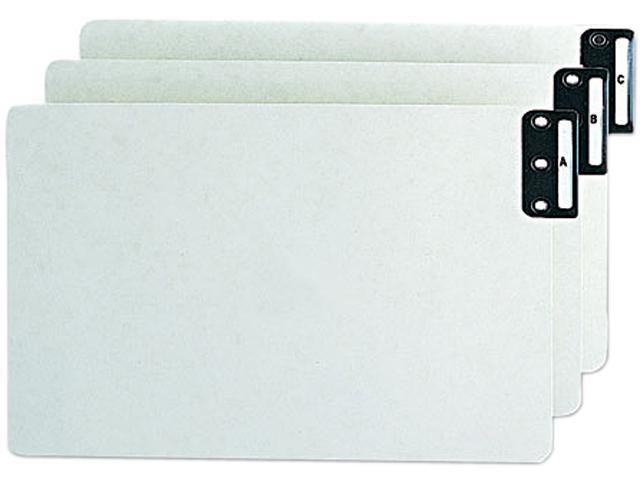 Smead 63276 End Tab Guides, Alpha, Vertical Metal Tabs, Pressboard, Legal, 25/Box