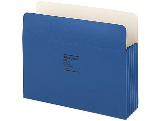 Wilson Jones 64BL ColorLife 3 1/2 Inch Expansion Pocket, Straight Tab, Dark Blue, 25/Box