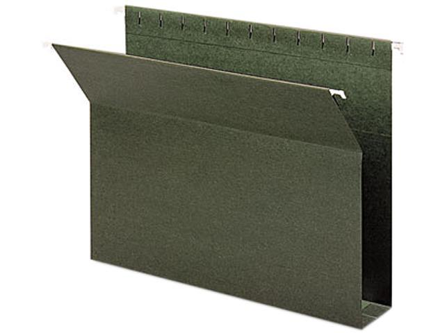 Smead 65090 Two Inch Capacity Box Bottom Hanging File Folders, Letter, Green, 25/Box