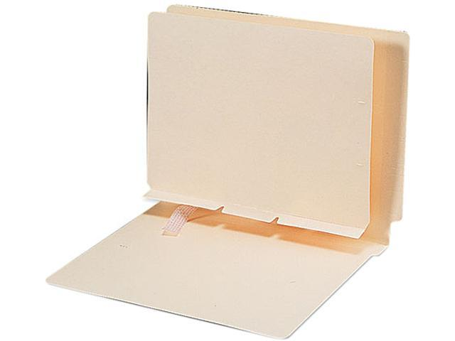 Smead 68021 Manila Self-Adhesive Folder Dividers with Prepunched Slits, Letter, 100/Box