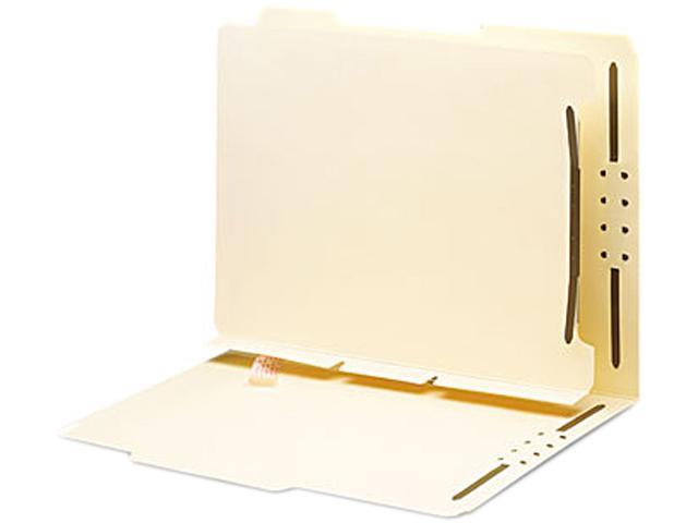 Smead 68025 Manila Self-Adhesive Folder Dividers with Twin-Prong Fastener, Letter, 25/Pack