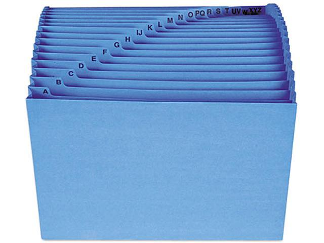 Smead 70727 Antimicrobial A-Z Expanding File, 21 Pockets, Letter, Blue