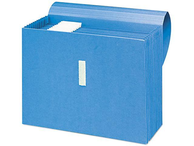 Smead 70728 Antimicrobial Expanding File, 12 Pockets, Letter, Blue