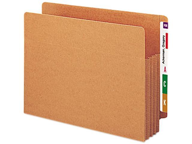 Smead 73780 3 1/2 Inch Expansion File TUFF Pockets, Straight Tab, Letter, Redrope, 10/Box
