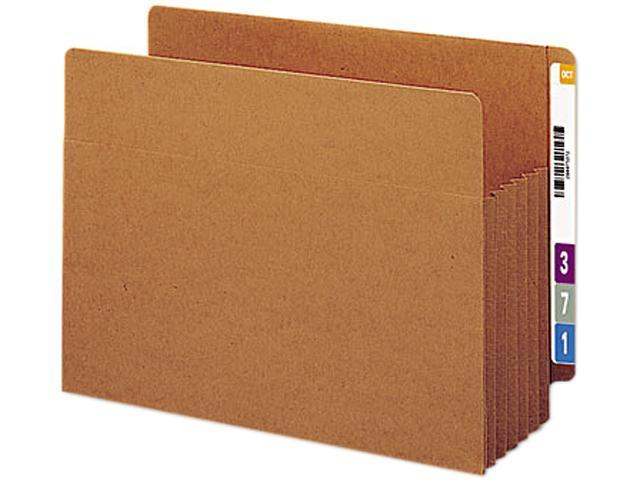 Smead 73790 5 1/4 Inch Expansion File TUFF Pockets, Straight Tab, Letter, Redrope, 10/Box