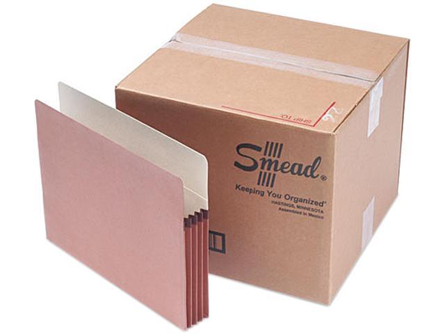 Smead 73805 3 1/2 Inch Expansion File Pocket, Straight Tab, Letter, Manila/Redrope, 50/Box