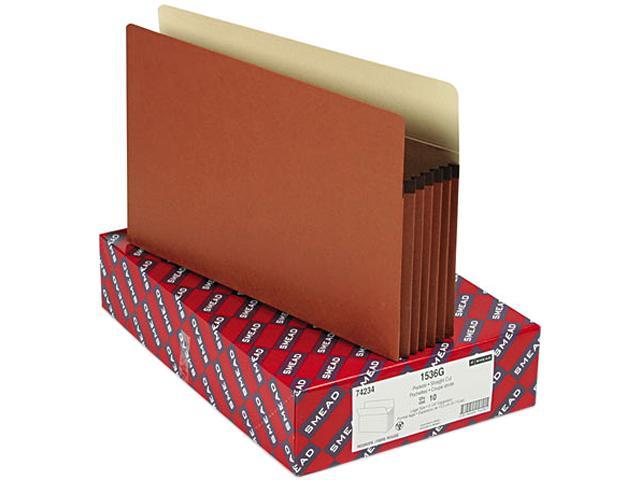 Smead 74234 5 1/4 Inch Expansion File Pockets, Straight Tab, Legal, Manila/Redrope, 10/Box
