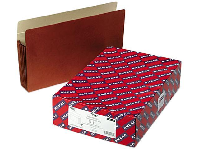 Smead 74395 Seven Inch Expansion Pocket with Tyvek, Straight, Legal, Manila/Redrope, 5/Box