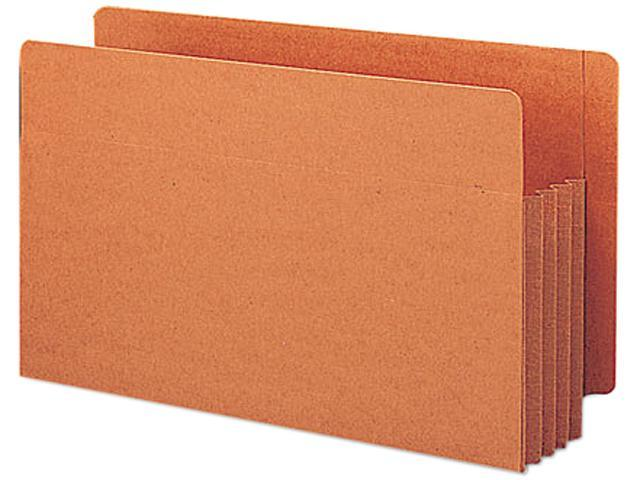 Smead 74780 3 1/2 Inch Expansion File TUFF Pockets, Straight, Legal, Redrope, 10/Box