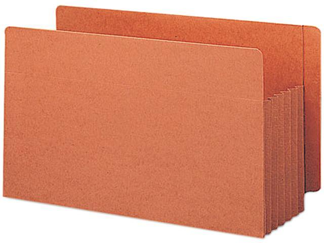 Smead 74790 TUFF Pocket Five Inch Expansion File Pockets, Straight, Legal, Redrope, 10/Box