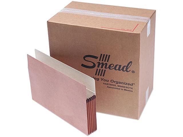 Smead 74810 5 1/4 Inch Expansion File Pockets, Straight Tab, Legal, Manila/Redrope, 50/Box