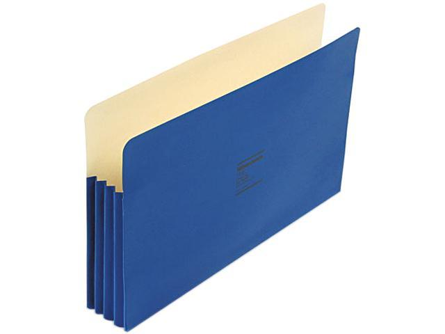 Wilson Jones 74BL ColorLife 3 1/2 Inch Expansion Pocket, Straight Tab, Legal, Dark Blue, 25/Box