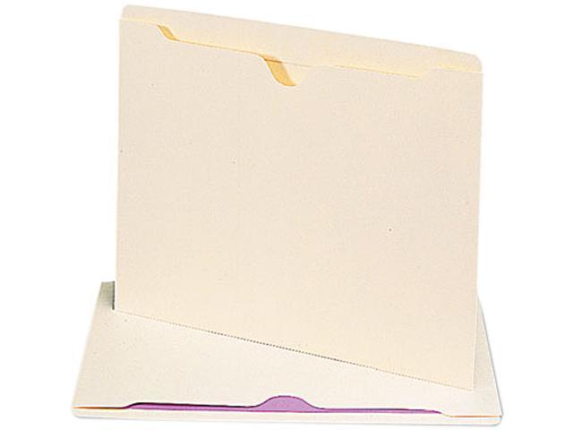 Smead 75500 File Jackets with Double-Ply Tab, Letter, 11 Point Manila, 100/Box