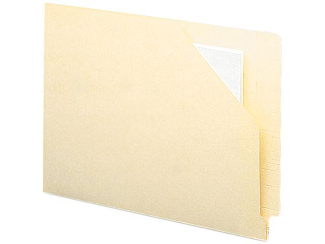 Smead 75715 Antimicrobial End Tab File Jackets, Letter, 11 Point Manila, 100/Box