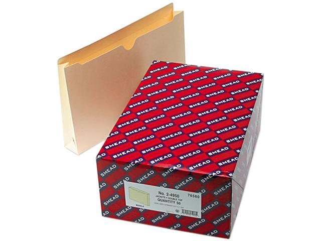 Smead 76560 File Jackets, Double-Ply Top, Two Inch Expansion, Legal, 11 Point Manila, 50/Box
