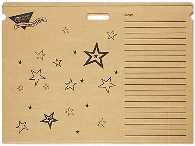 TREND T1023 File 'n Save Chart Storage Box Folders, 30-1/2 x 22-1/4 x 4-1/4, Bright Stars