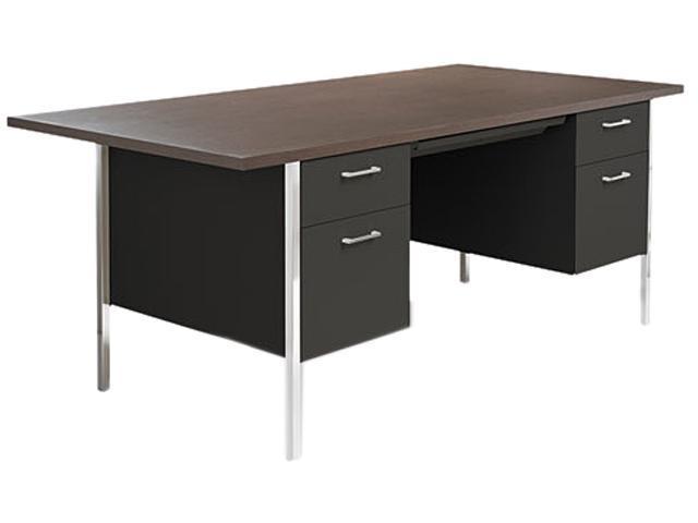 Double Pedestal Steel Desk Metal Desk 72w X 36d X 29 1
