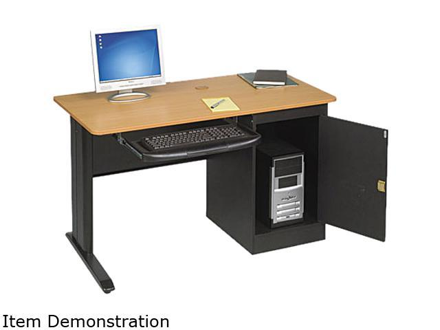 BALT 89843 LX48 Computer Security Workstation, 48w x 24d x 28-3/4h, Teak/Black