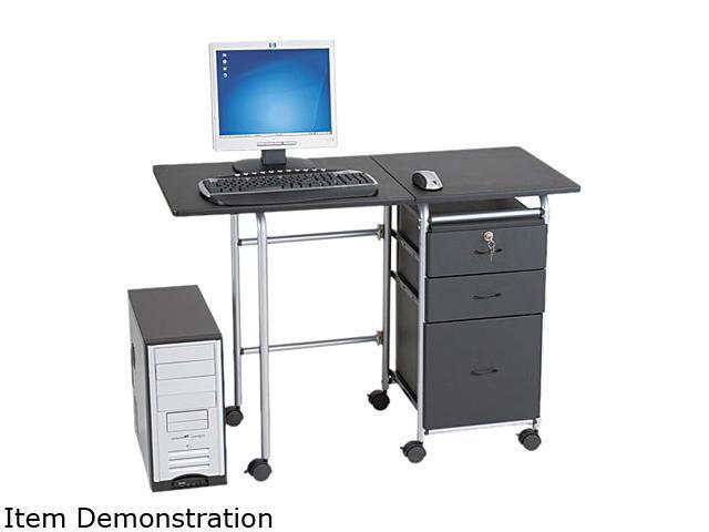 BALT 89886 Fold-N-Stow Workstation, 41-3/4w x 19-7/8d x 29-3/4h, Black/Silver