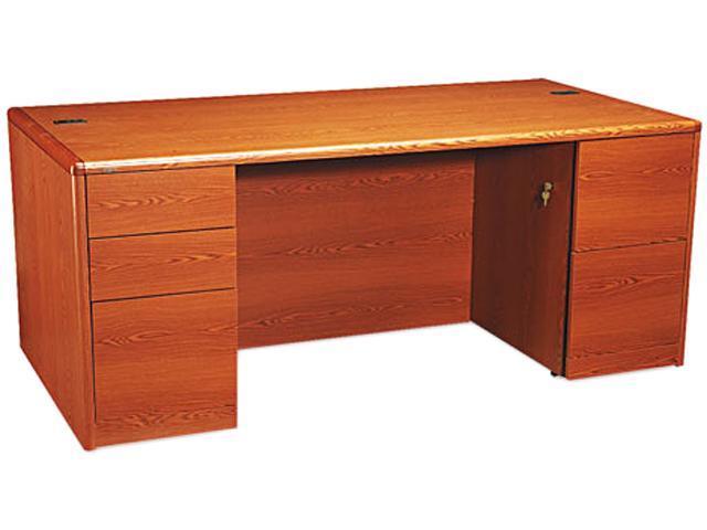 10700 Double Pedestal Desk w/Full Pedestals, 72w x 36d x 29-1/2h, Henna Cherry
