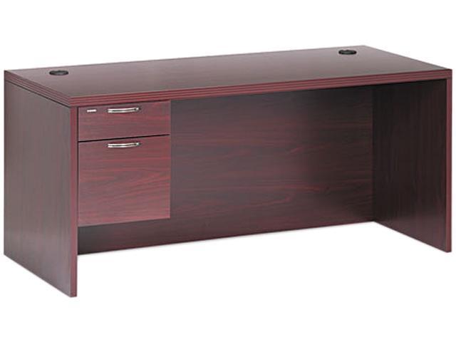 Valido 11500 Series Left Pedestal Desk, 66w x 30d x 29-1/2h, Mahogany