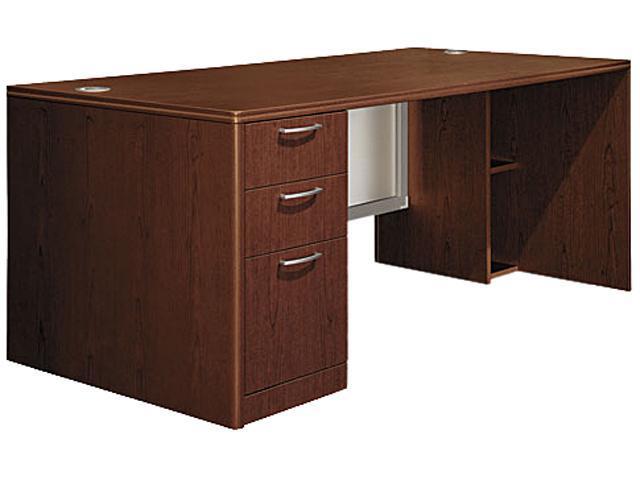 Attune Left Pedestal Desk, Frosted Mod Panel, 72w x 36d x 29-1/2h, Shaker CY