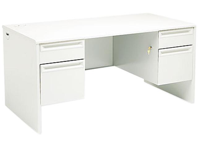 38000 Series Double Pedestal Desk, 60w x 30d x 29-1/2h, Light Gray/Light gray