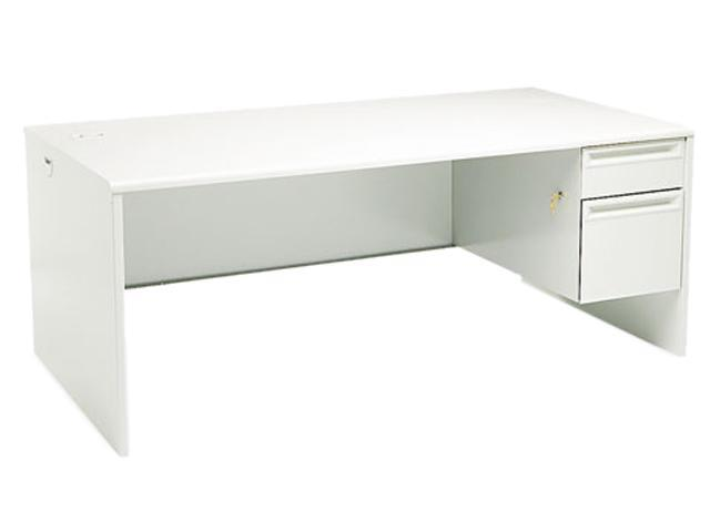 38000 Series Right Pedestal Desk, 72w x 36d x 29-1/2h, Light Gray/Light Gray