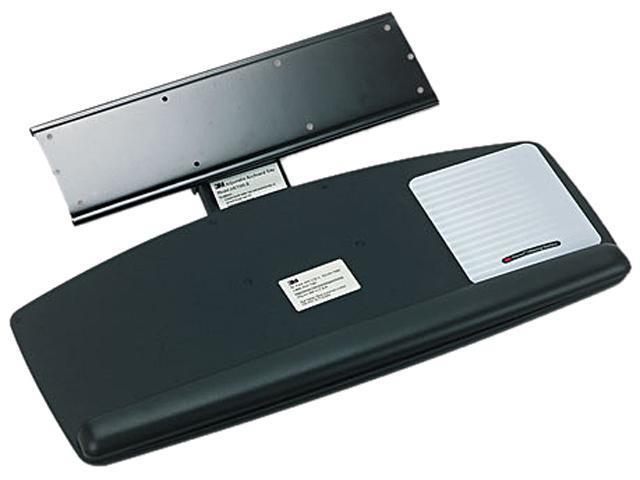 3M AKT60LE Knob Adjust Keyboard Tray With Standard Platform, 25-1/5w x 12d, Black