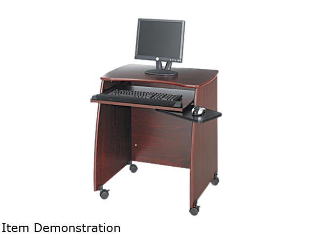 Safco 1953MH Picco Duo Workstation, 28-1/4w x 22-1/4d x 30-1/4h, Mahogany Laminate Top