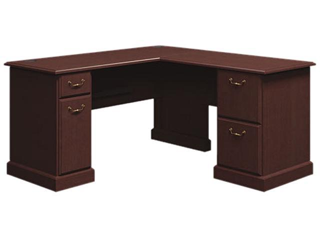 Bush Syndicate L-Desk, 60w x 60d x 30h, Mocha Cherry, Carton 1