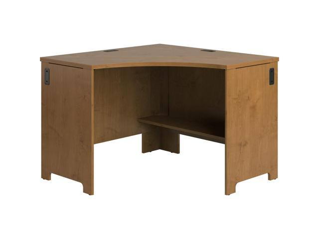 Office Connect by BUSH FURNITURE PR76320 Envoy Collection Corner Desk - Natural Cherry