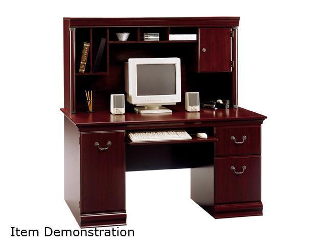 Bush Furniture Signature WC26620-03 Birmingham Collection Desk & Hutch - Harvest Cherry