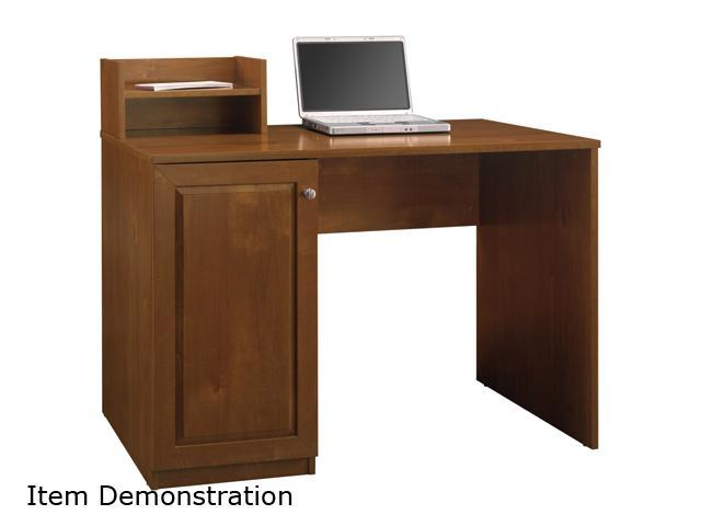 My Space by Bush Furniture MY72704 Cobalt Collection Single Ped Desk w/ Short Hutch Field Maple