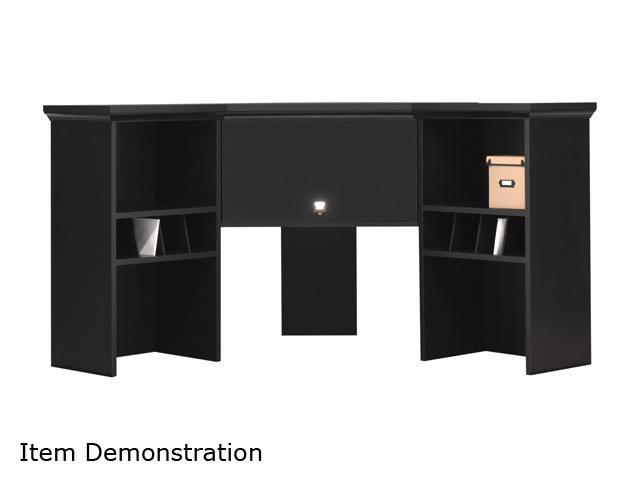 My Space by Bush Furniture MY62901-03 Stockport Collection Corner Hutch - Classic Black
