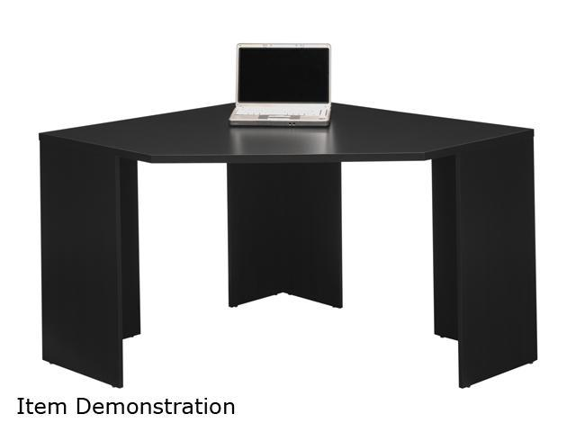 My Space by Bush Furniture MY62902-03 Stockport Collection Corner Desk - Classic Black