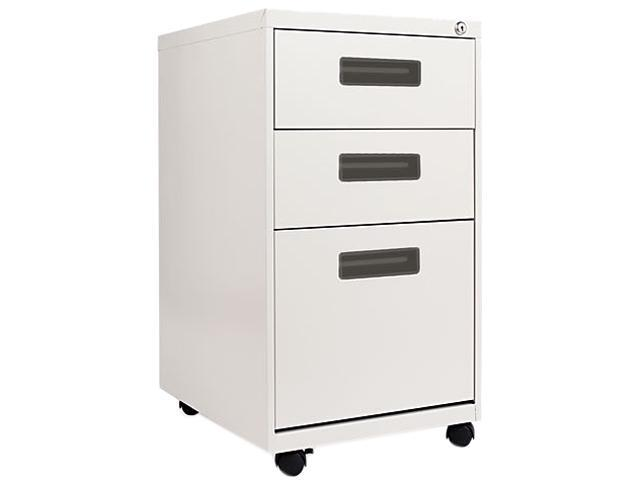 Alera PA53-2820LG Three-Drawer Mobile Pedestal File, 15-7/8w x 19-3/4d x 28-1/4h, Light Gray
