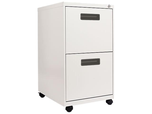 Alera PA54-2820LG Two-Drawer Mobile Pedestal File, 15-7/8w x 19-3/4d x 28-1/4h, Light Gray