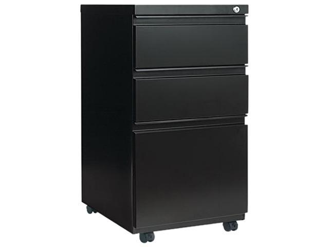 Alera PB53-2819BL (ALEPB532819BL) Three-Drawer Mobile Pedestal File W/ Full-Length Pull, 15-7/8w x 19-1/4d, Black
