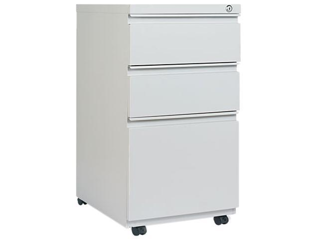 Alera PB53-2819LG (ALEPB532819LG) 3-Drawer Mobile Pedestal File W/ Full-Length Pull, 15-7/8w x 19-1/4d, Light Gray