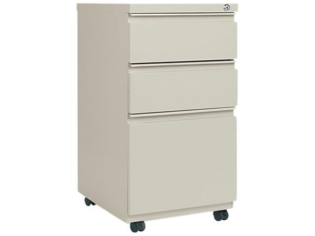 Alera PB53-2819PY (ALEPB532819PY) Three-Drawer Mobile Pedestal File W/ Full-Length Pull, 15-7/8w x 19-1/4d, Putty